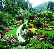 Butchart's Gardens by Jann Ashworth