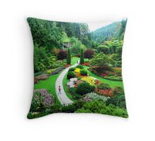 Butchart's Gardens Throw Pillow