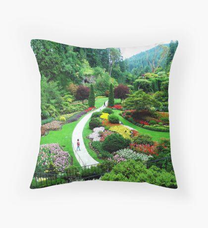 Butchart's Gardens Throw Pillow