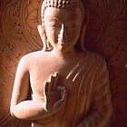 Wood Carving of Buddha by Caroline Webb