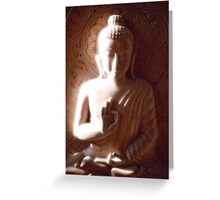 Wooden Carving of Buddha - 2 Greeting Card