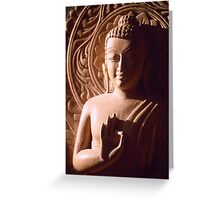 Wooden Carving of Buddha - 8 Greeting Card