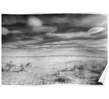 Rural infrared - Barry Way, Snowy Mountains Poster