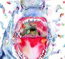 WATERCOLOR SHARK by lautir