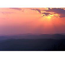 Sunset & Sunbeams - Champlain Valley, Vermont Photographic Print