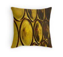 gold window Throw Pillow