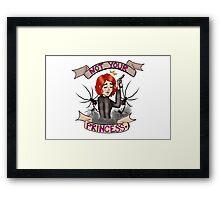 Natasha Romanov - Not your princess Framed Print