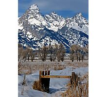 Grand Teton & Irrigation Ditch Photographic Print
