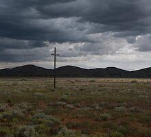 Approaching rain, Yunta, South Australia by Syd Winer