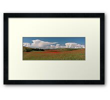 Dotted hills, rising clouds Framed Print