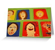 Face Tiles Greeting Card