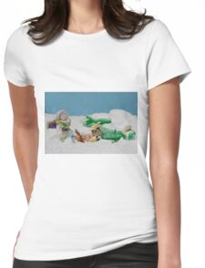 I thought they smelled bad on the outside! Womens Fitted T-Shirt