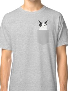 Manny - Black and white cute cat gift cat person cat lady funny cat meme pet portraits customizable  Classic T-Shirt