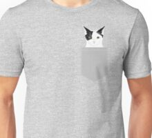 Manny - Black and white cute cat gift cat person cat lady funny cat meme pet portraits customizable  Unisex T-Shirt