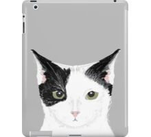 Manny - Black and white cute cat gift cat person cat lady funny cat meme pet portraits customizable  iPad Case/Skin