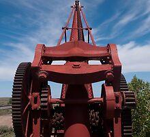 Railway siding crane, Yunta, South Australia by Syd Winer