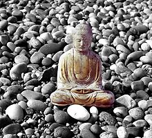 Buddha and Pebbles - Scotland - 2 by Caroline Webb