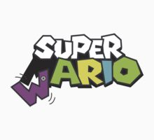 Wario Vs Super Mario Kids Tee