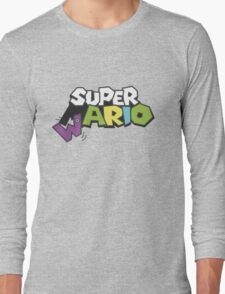 Wario Vs Super Mario Long Sleeve T-Shirt