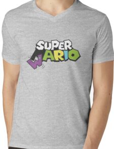 Wario Vs Super Mario Mens V-Neck T-Shirt