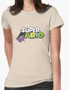 Wario Vs Super Mario Womens Fitted T-Shirt