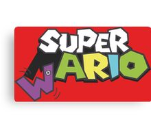Wario Vs Super Mario Canvas Print