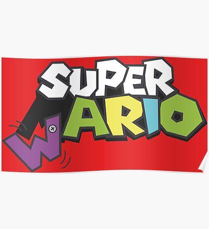 Wario Vs Super Mario Poster
