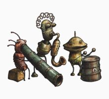 Machinarium's Jazz Band Baby Tee