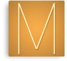 """""""M"""" (MussoLive Logo) Canvas Print"""