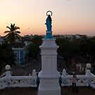 The view from Panjim's church at sunset by Syd Winer
