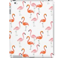 Flamingo modern watercolor girly cute print pattern design cell phone case tropical island summer  iPad Case/Skin