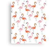 Flamingo modern watercolor girly cute print pattern design cell phone case tropical island summer  Canvas Print