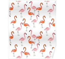 Flamingo modern watercolor girly cute print pattern design cell phone case tropical island summer  Poster