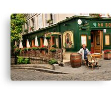 Parisian Restaurant 2 Canvas Print