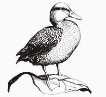 Cute Duck illustration Kids Tee