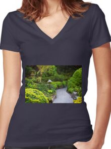 Mystery - Butchart Garden - BC Women's Fitted V-Neck T-Shirt
