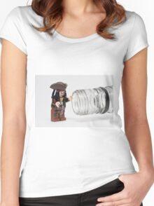 Why is the rum always gone?  Women's Fitted Scoop T-Shirt