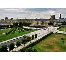 Paris and Le Louvre Museum Photographic Print