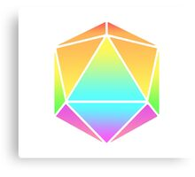 Rainbow D20 Canvas Print