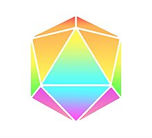 Rainbow D20 Photographic Print