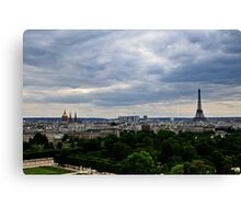 Paris and The Eiffel Tower 1 Canvas Print