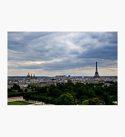 Paris and The Eiffel Tower 1 Photographic Print