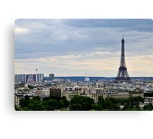 Paris and The Eiffel Tower 2 Canvas Print