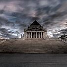 Shrine of Remembrance  Melbourne  Victoria by William Bullimore