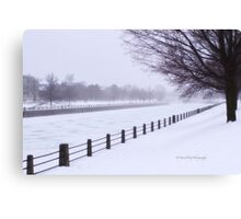 Winter Fog - Rideau Canal Canvas Print