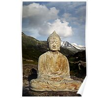 Buddha in the Mountains - Switzerland Poster