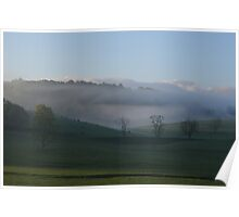 Fog Over Cows Poster