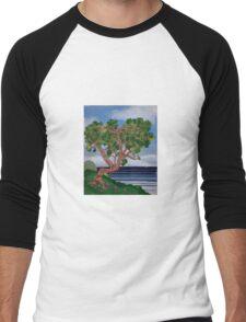 Twisted Coastal Textures Men's Baseball ¾ T-Shirt