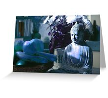 Buddha in the Kitchen -  London - 3 Greeting Card