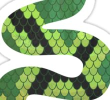 Snake Black and Green Print Sticker